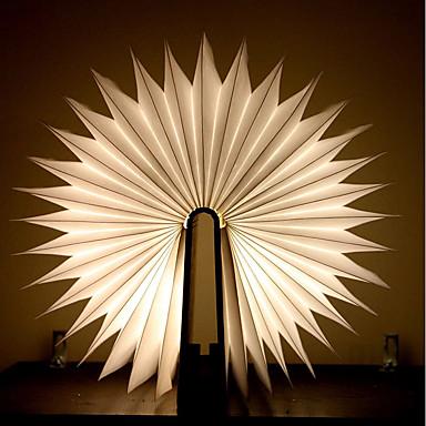1szt Książka Noc LED Light Warm White Zasilane baterie Składany/a Akumulator Kreatywna nowość Dekoracyjne światło