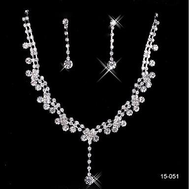 Damskie Biżuteria Ustaw Zawierać - Kryształ górski Stop Kolczyki wiszące Naszyjnik Na Ślub Impreza