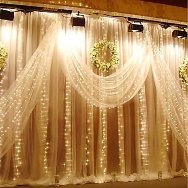KWB 3M Leuchtgirlanden 300 LEDs Warmes Weiß / Weiß / Blau Wasserfest 220-240 V 1set / IP65