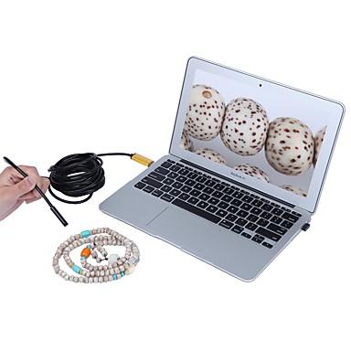 złoty 8mm obiektyw 2 w 1 kamera endoskopowa USB 5m kabel ip67 wodoodporna inspekcja borescope wąż krzywka dla systemu Windows Android