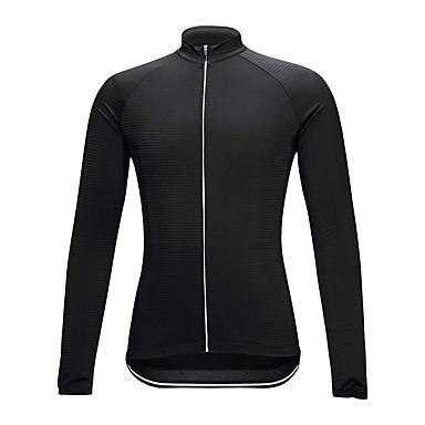 Długi rękaw Koszulka rowerowa - Black Rower Koszulka