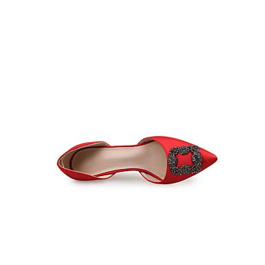 Automne Paillette Printemps Talon Aiguille Chaussures Soie Nouveauté Talons Femme Appliques à Confort Bout Chaussures 06407004 pointu qEt6Uw