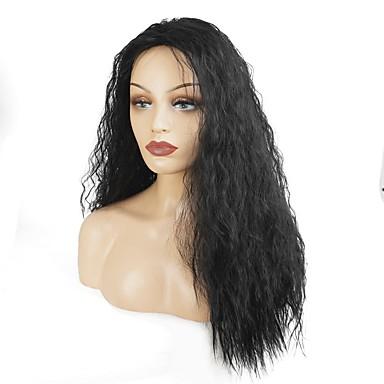 Peruki syntetyczne Kędzierzawy Gęstość Bez czepka Damskie Czarny Celebrity Wig Peruka naturalna cosplay peruka Długo Włosy syntetyczne