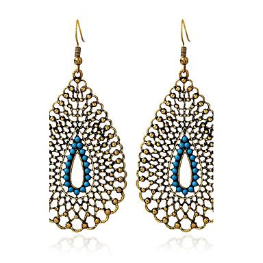 billige Moteøreringer-Dame Turkis Dråpeøreringer damer Vintage Oversized vestlig stil Indiske kostymer Turkis øredobber Smykker Gull Til Daglig Avslappet