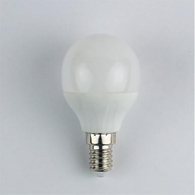 1szt 4W 310 lm E14 Żarówki LED kulki G45 6 Diody lED SMD 3528 Ciepła biel AC 110-240V