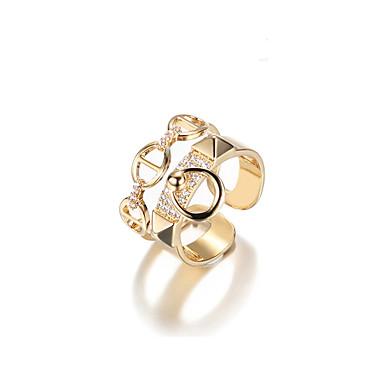 billige Motering-Dame Håndledd Ring 1 Gull Metall Legering Geometrisk Form Koreansk Gave Daglig Smykker geometriske