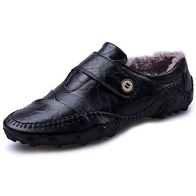 Męskie Buty Nappa Leather Zima Mokasyny Oksfordki na Na wolnym powietrzu Black Brown
