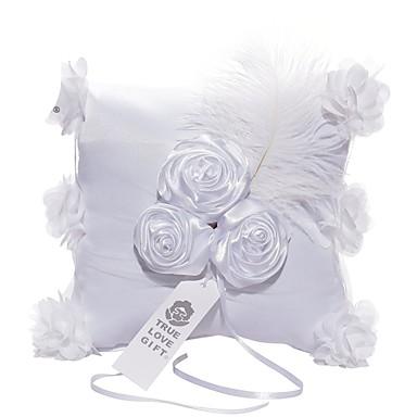 Satyna / Zasznurować Pillow Pierścień Kwiatowy Motyw / Ślub Na każdy sezon