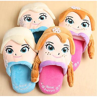 Mädchen Schuhe Beflockung Herbst Winter Komfort Slippers & Flip-Flops Für Normal Blau Rosa