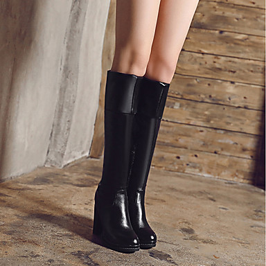Mariage Soirée rond Chaussures Blanc la amp; Bottes Femme Cuissarde Printemps Spandex Noir Mode Evénement Bottes Automne Bout à 06373917 F6wZ1q6