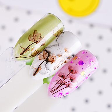 1 pcs Naklejka paznokci 3D / Kalkomanie do paznokci Nail Art Design Naklejka gładka / Kwiaty Codzienny