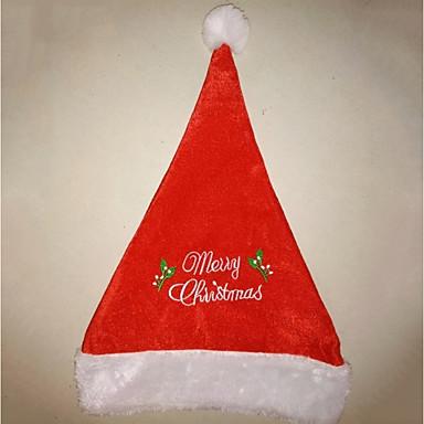 Święto Kostiumy Św. Mikołaja Christmas Hat Czerwony Pleuche Akcesoria do cosplay Boże Narodzenie