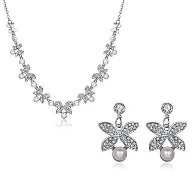 Damskie Cyrkonia Pearl imitacja Cyrkon Posrebrzany Artystyczny Hipoalergiczny Biżuteria Ustaw - Klasyczny Vintage Artystyczny Duże