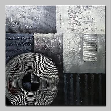 Handgemalte Abstrakt Quadratisch, Einfach Modern Segeltuch Hang-Ölgemälde Haus Dekoration Ein Panel