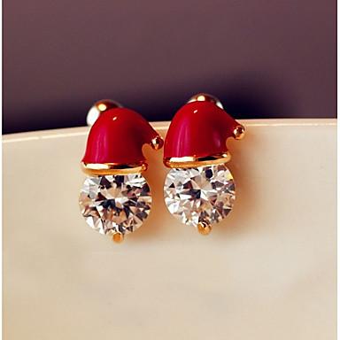 Pentru femei Cercei Stud cercei Bijuterii Rosu Pentru Crăciun Zilnic