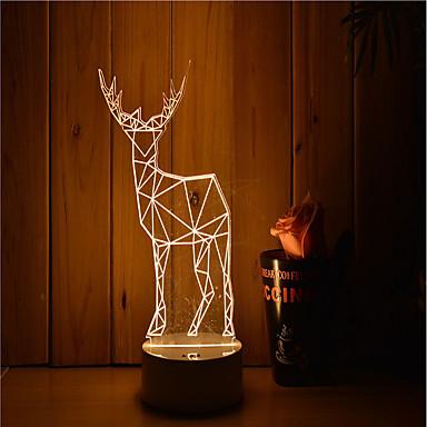 1 zestaw 3D Nightlight Przygaszanie / Lampka LED / Dekoracyjna Artystyczny / LED / Nowoczesny