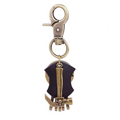Łańcuszek do kluczy Biżuteria Gold Nieregularny Skórzany Stop Vintage Nowoczesne Ulica Szkoła Męskie