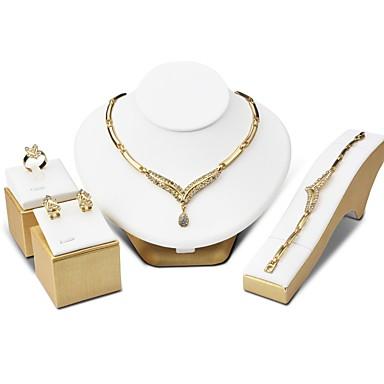 Damskie Cyrkonia, Rhinestone Biżuteria Ustaw - Cyrkonia Gold