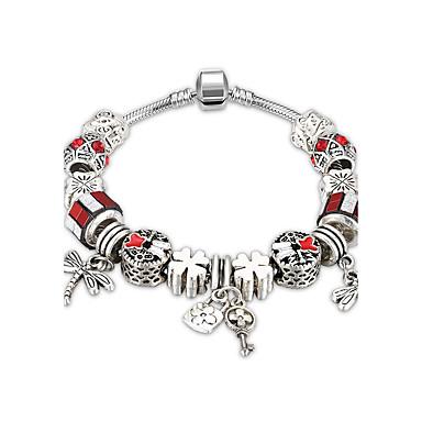 Damen Kristall / Kubikzirkonia Armreife - versilbert Süß, Elegant Armbänder Dunkelblau / Rot / Hellblau Für Hochzeit / Party