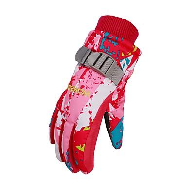 Rękawiczki zimowe Wodoodporny / Ochrona przed deszczem / Zatrzymujący ciepło Poliester druku Narciarstwo Zima
