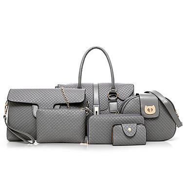 c9c3ac4183 Women s Bags PU(Polyurethane) Bag Set 3 Pcs Purse Set Zipper Black   Gray