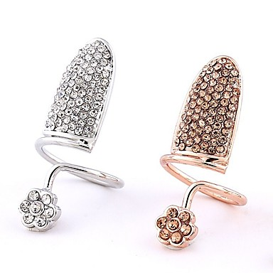 billige Motering-Dame Nail Finger Ring Håndledd Ring vikle ring Sølv Rose Gull Gullplatert rose Legering Geometrisk Form Statement damer Klassisk Fest Bar Smykker geometriske