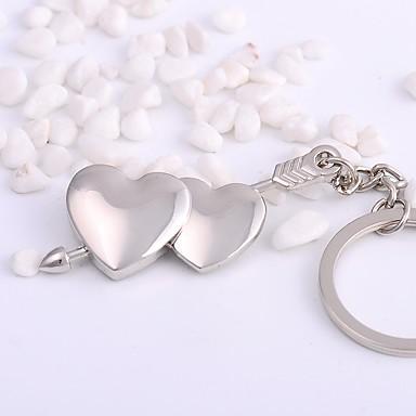 Łańcuszek do kluczy Biżuteria Silver Nieregularny Stop Podstawowy Serce Codzienny Cicha sympatia Męskie Damskie