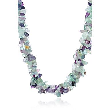 Damskie Geometric Shape Kształt Vintage Naszyjniki choker Kryształ Kryształ Naszyjniki choker Impreza Codzienny Biżuteria kostiumowa