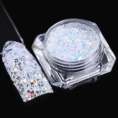 1 Biżuteria do paznokci Klasyczny Laserowy holograficzny Wysoka jakość Codzienny
