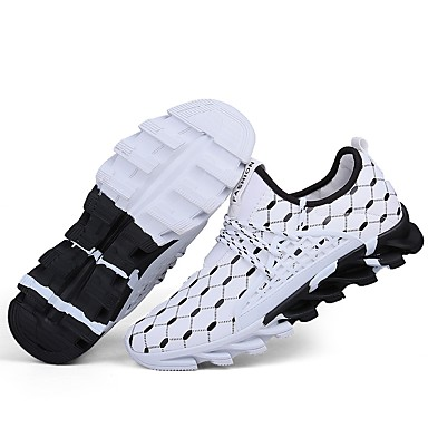 Men's Light Soles Polyamide Comfort fabric Fall / Winter Comfort Polyamide Sneakers White / Black / Orange / Black 47e6f3