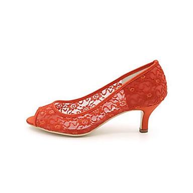 Evénement ouvert Bout Rouge Soirée Chaussures Beige Eté Chaussures Couture Basique 06380808 Mariage mariage de Femme amp; Printemps Dentelle Escarpin Dentelle en HZv6TwqzW