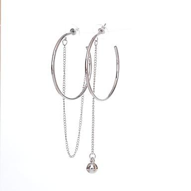Damskie Kolczyki koła Podstawowy Niedopasowanie Stop Circle Shape Biżuteria Silver Urodziny Prezent Biżuteria kostiumowa