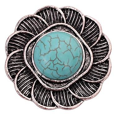 Damskie Band Ring Turkusowy Silver Turkusowy Stop Lampka zmieniająca kolory Klasyczny Vintage Codzienny Biżuteria kostiumowa