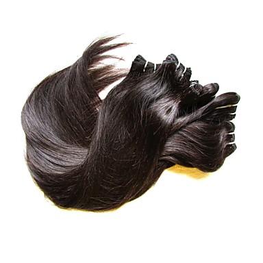 לא מעובד / שיער בתולי / שיער ראמי חוטי ערב / מארג שיער / שזירה Remy  משיער אנושי לנשים שחורות / בתולה100% / לא מעובד ישר / קלאסי שיער ברזיאלי / חבילות 12 אינץ' / 14 אינץ' / 16 אינץ' 200 g שישה חודשים