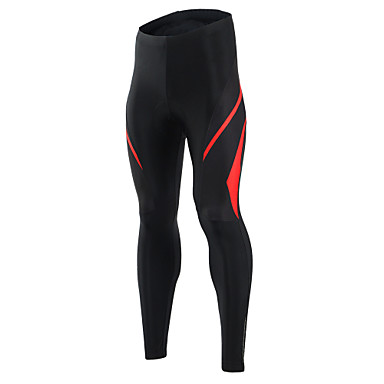 Arsuxeo Men's Cycling Tights Bike Bottoms Quick Dry Classic Polyester, Elastane Yellow / Red Bike Wear / High Elasticity