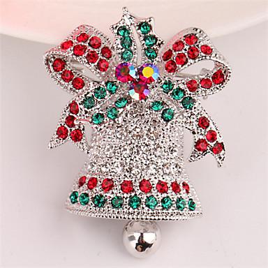 Święto Świąteczna broszka Biżuteria świąteczna Silver Golden Chrom Akcesoria do cosplay Boże Narodzenie