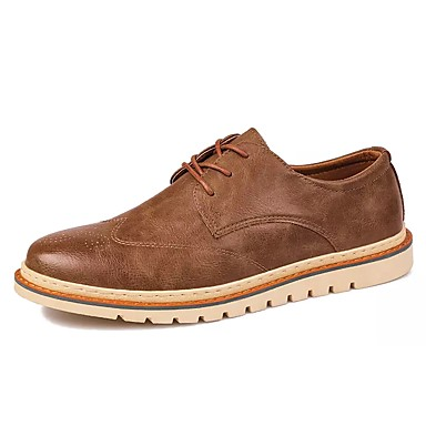 Herren Schuhe PU Winter Komfort Sneakers Schnürsenkel Für Normal Schwarz Grau Khaki