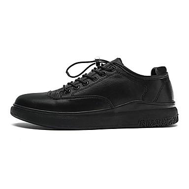 Herren Schuhe PU Winter Herbst Komfort Leuchtende Sohlen Sneakers Für Normal Schwarz Rot Khaki