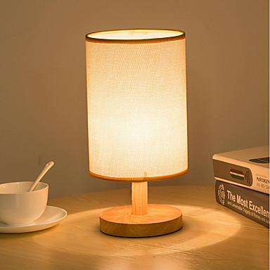 Prosty / Retro / Vintage / Modern / Contemporary Styl MIni / Ochrona oczu Lampa biurkowa Na Materiał 220V White / Gray and White
