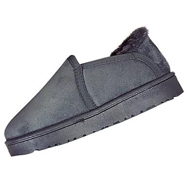 Damskie Kaszmir Zima Wygoda Mokasyny i buty wsuwane Okrągły Toe Szary / Brązowy / Różowy