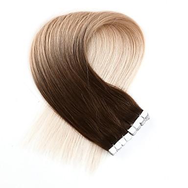 voordelige Extensions van echt haar-Neitsi Tape-in Extensions van echt haar Klassiek Echt haar Extentions van mensenhaar Dames Beige Blonde / Bleached Blonde
