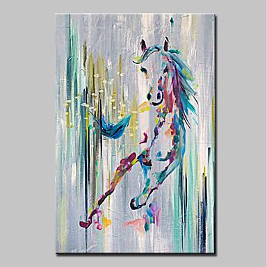 Ręcznie malowane Zwierzęta Pionowy, Nowoczesny Brezentowy Hang-Malowane obraz olejny Dekoracja domowa Jeden panel