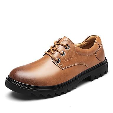 Męskie Komfortowe buty Skóra / Derma Wiosna / Jesień Adidasy Czarny / Jasnobrązowy / Ciemnobrązowy