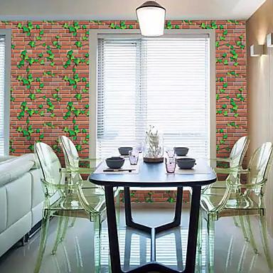 Liście drzew / 3D Tapety Dla domu Współczesny Rustykalny Tapetowanie , PVC/Vinyl Materiał Samoprzylepna Tapeta , Pokój tapet