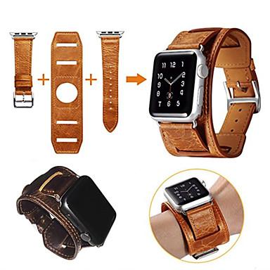Watch Band na Apple Watch Series 4/3/2/1 Jabłko Zapięcie motylkowe Prawdziwa skóra Opaska na nadgarstek