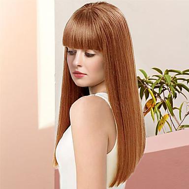 Ludzkie Włosy Capless Peruki Włosy naturalne Kinky Straight Długo Tkany maszynowo Peruka Damskie
