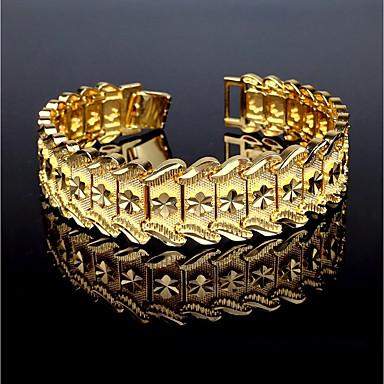 voordelige Herensieraden-Heren Cuff armbanden Armband Vintage Dubai Italiaans Koper Armband sieraden Goud Voor Lahja Causaal / Verguld