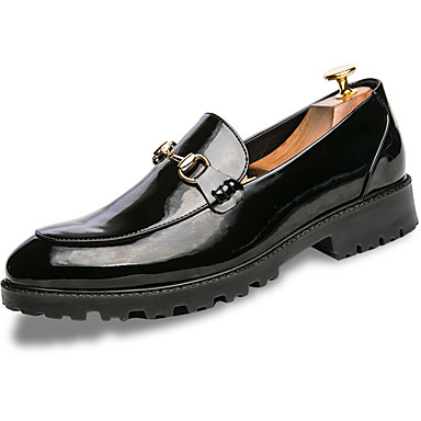 Herrn Schuhe Künstliche Mikrofaser Polyurethan Frühling Herbst Komfort Loafers & Slip-Ons für Normal Weiß Schwarz Blau