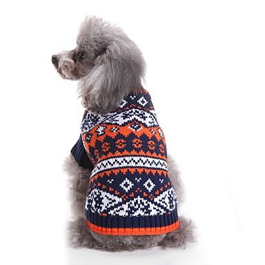 Kot / Psy Sweter Ubrania dla psów Kolorowy blok Niebieski / Różowy Włókna akrylowe Kostium Dla zwierząt domowych Męskie / Damskie Codzienne / Moda / Kolorowy blok