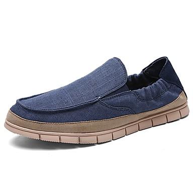 Męskie Buty Materiał / PU Lato / Jesień Comfort Mokasyny i pantofle Beige / Dark Blue / Light Blue